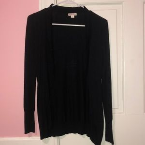 long sleeve black cardigan